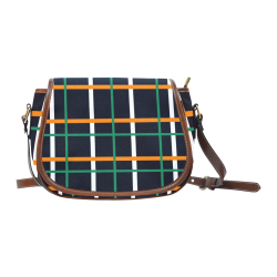 black Tartan saddle bag Saddle Bag/Small (Model 1649) Full Customization