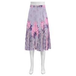 Violet Summer Mnemosyne Women's Crepe Skirt (Model D16)