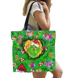 Maybe I like Christmas by Nico Bielow All Over Print Canvas Tote Bag/Large (Model 1699)