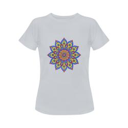 Brilliant Star Mandala Grey Women's Classic T-Shirt (Model T17)