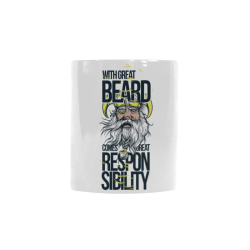 WITH GREAT BEARD COMES GREAT RESPONSIBILITY Custom Morphing Mug