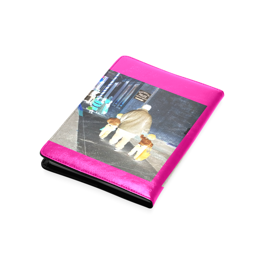 Ghosts roaming the street (pink) Custom NoteBook A5