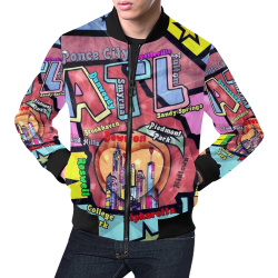 Atlanta by Nico Bielow All Over Print Bomber Jacket for Men (Model H19)