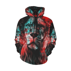 lion jbjart #lion All Over Print Hoodie for Women (USA Size) (Model H13)