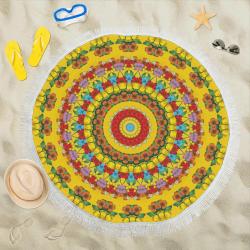"""Blooming mandala Circular Beach Shawl 59""""x 59"""""""