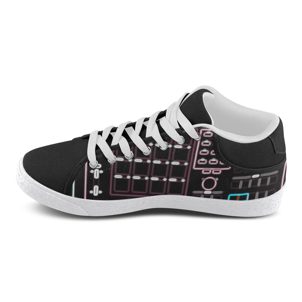 MPC 60 Classic Black with White Sole Men's Chukka Canvas Shoes (Model 003)