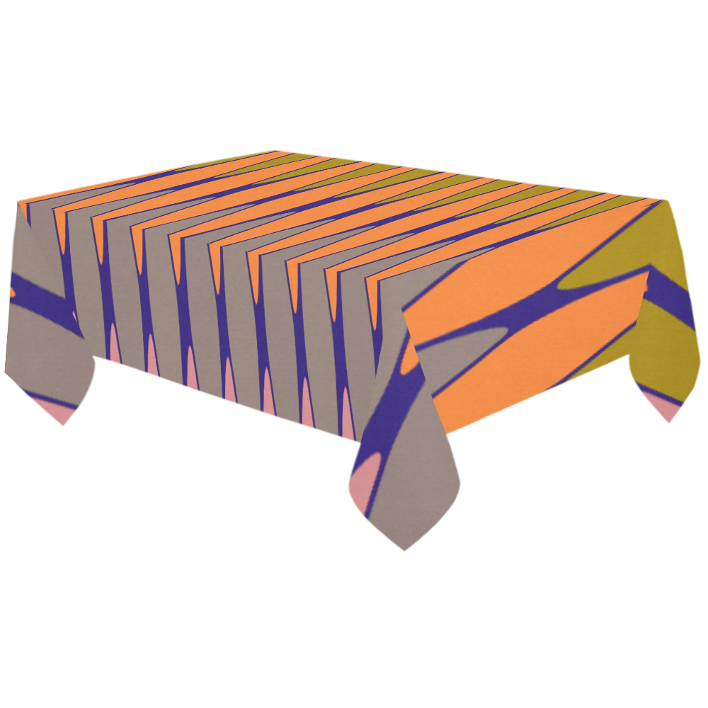 "zappwaits-03 Cotton Linen Tablecloth 60""x120"""