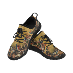 Hieronymus Bosch-The Haywain Triptych 2 Grus Men's Breathable Woven Running Shoes (Model 022)
