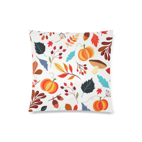 "Autumn Mix Custom Zippered Pillow Case 20""x20""(Twin Sides)"