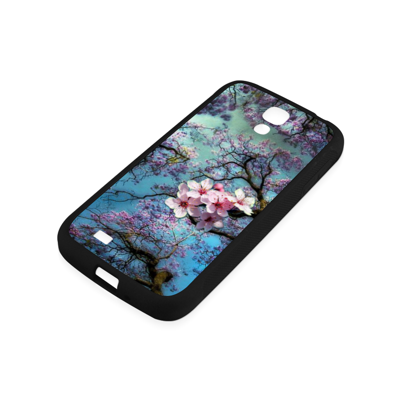Cherry blossomL Rubber Case for Samsung Galaxy S4