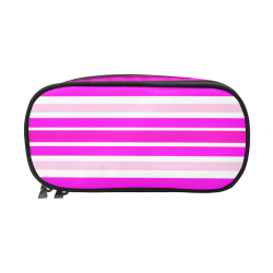 Summer Pinks Stripes Pencil Pouch/Large (Model 1680)
