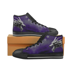Steel Dragons V1.0 Purple Women's Classic High Top Canvas Shoes (Model 017)