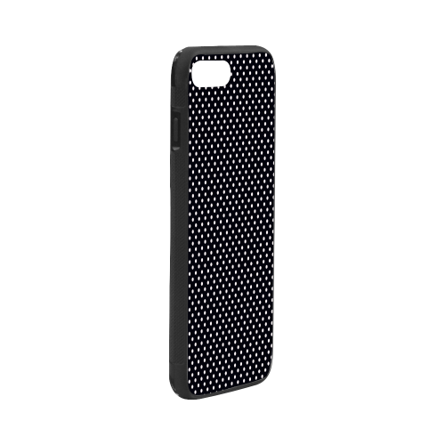 "Black polka dots Rubber Case for iPhone 7 plus (5.5"")"