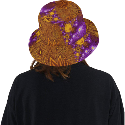 Sunset Jungle Leaves All Over Print Bucket Hat