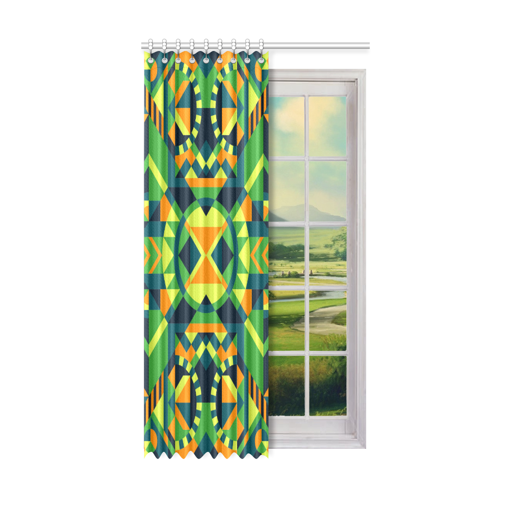 "Modern Geometric Pattern Window Curtain 52"" x96""(One Piece)"