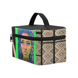 pillow design NEON GREEN Cosmetic Bag/Large (Model 1658)