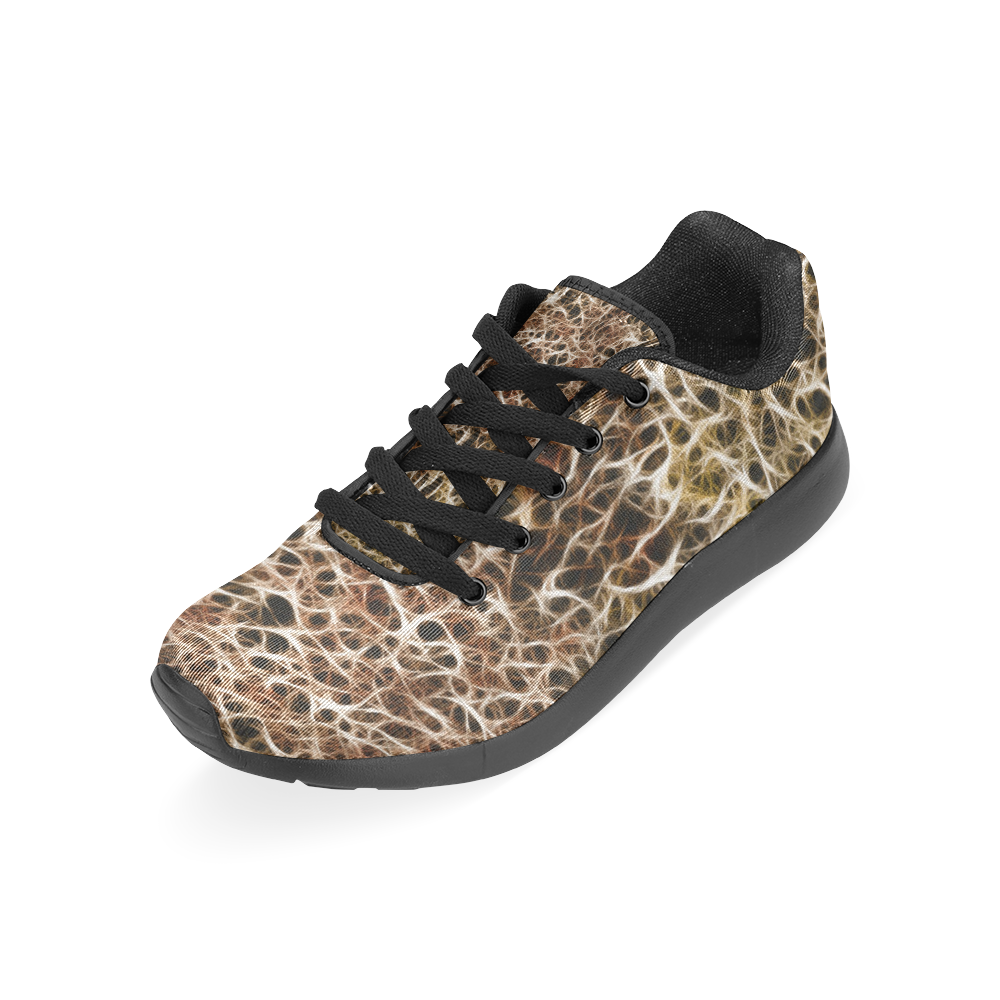 Misty Fur Coral by Jera Nour Women's Running Shoes/Large Size (Model 020)