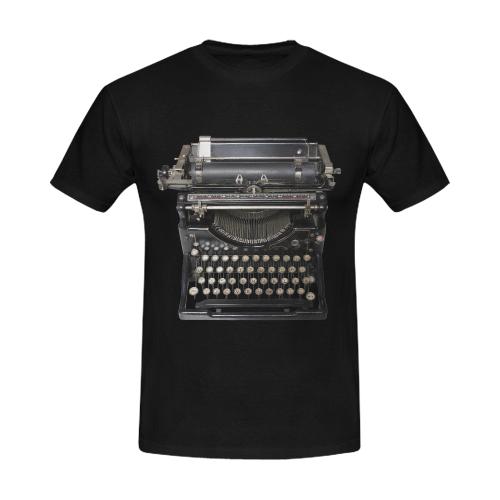 typewriter Men's T-Shirt in USA Size (Front Printing Only)