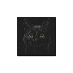 "Black Cat Canvas Print 12""x12"""