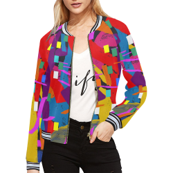 CONFETTI NIGHTS 2 All Over Print Bomber Jacket for Women (Model H21)