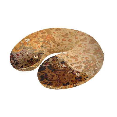 Wonderful decorative floral design U-Shape Travel Pillow