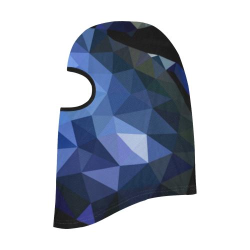 Low poly geometrical blue All Over Print Balaclava