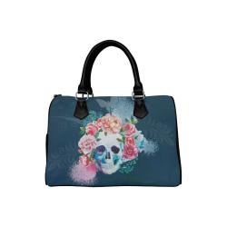 Amazing Hippie Skull Boston Handbag (Model 1621)