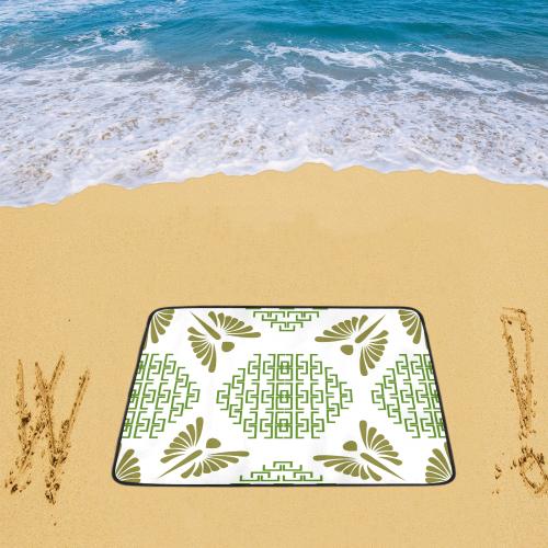 "Ethnic folk ornament Beach Mat 78""x 60"""