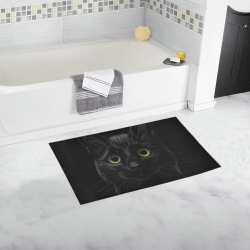 Black Cat Bath Rug 16''x 28''