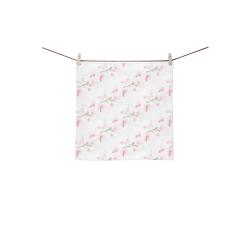 """Pattern Orchidées Square Towel 13""""x13"""""""