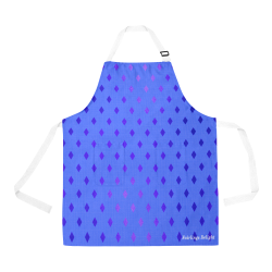 Fairlings Delight Royal Collection- Periwinkle Purple Diamonds 53086 All Over Print Apron All Over Print Apron