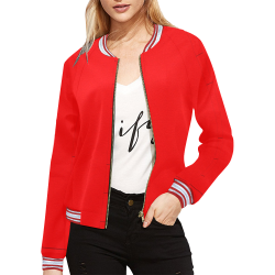 Scarlet Panels All Over Print Bomber Jacket for Women (Model H21)