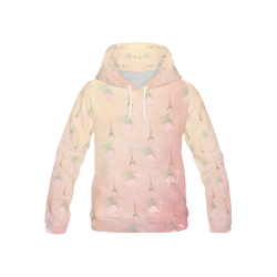 Parisian Flamingoes All Over Print Hoodie for Kid (USA Size) (Model H13)