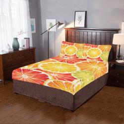 orange Slices 3-Piece Bedding Set