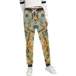 US DOLLARS 2 Women's All Over Print Sweatpants (Model L11)