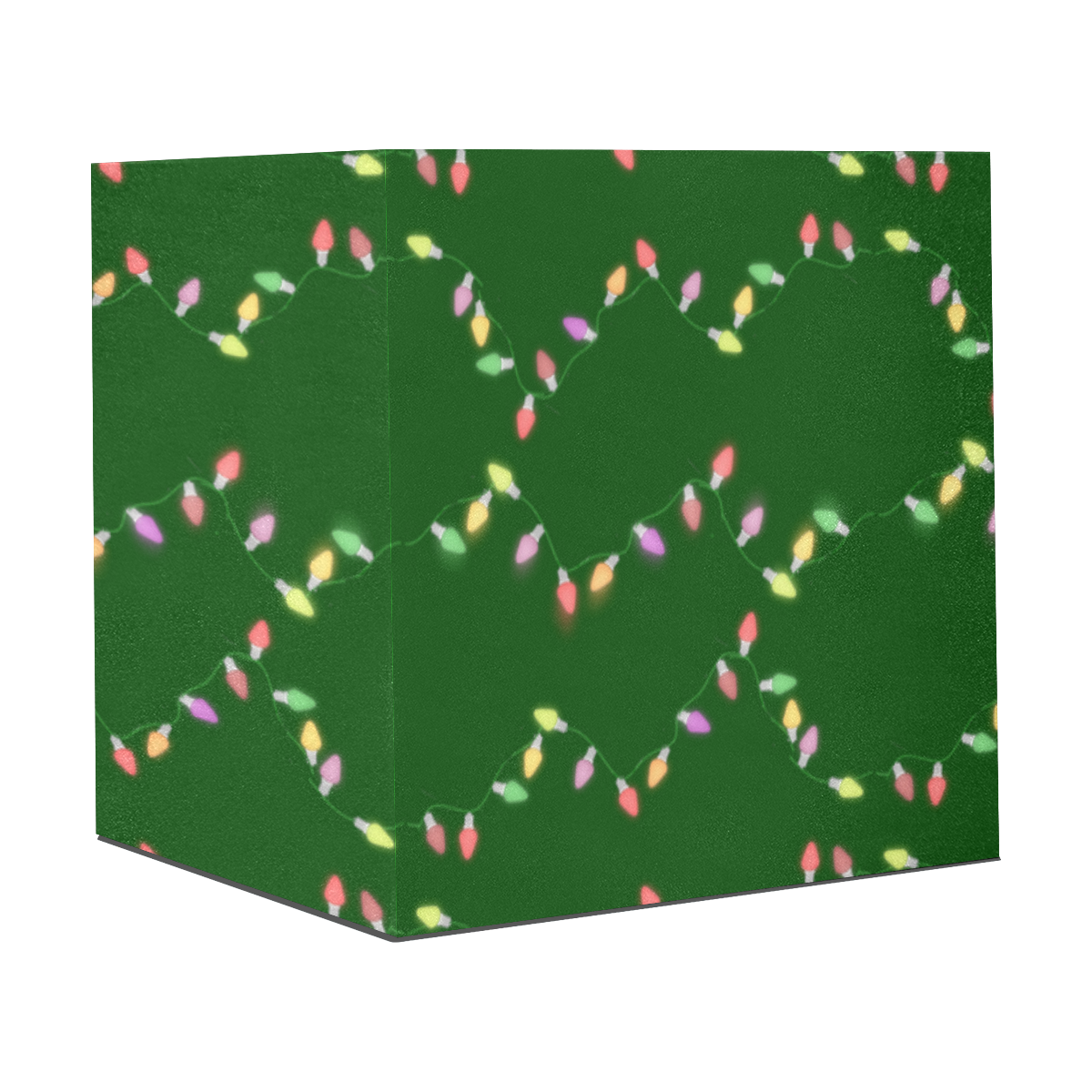 "Festive Christmas Lights on Green Gift Wrapping Paper 58""x 23"" (5 Rolls)"