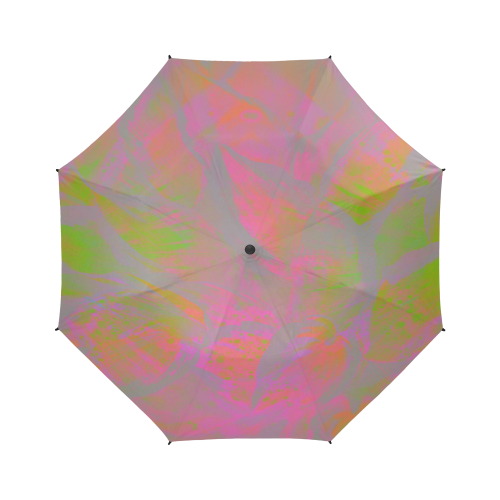 Maroon Vibe Night Semi-Automatic Foldable Umbrella (Model U05)