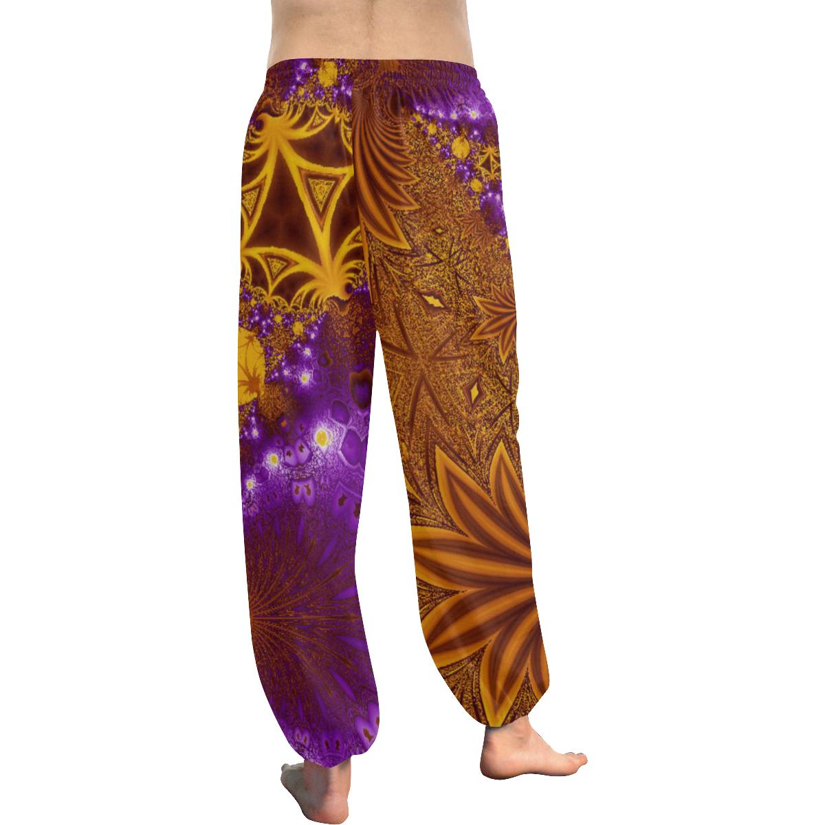 Sunset Jungle Leaves Women's All Over Print Harem Pants (Model L18)