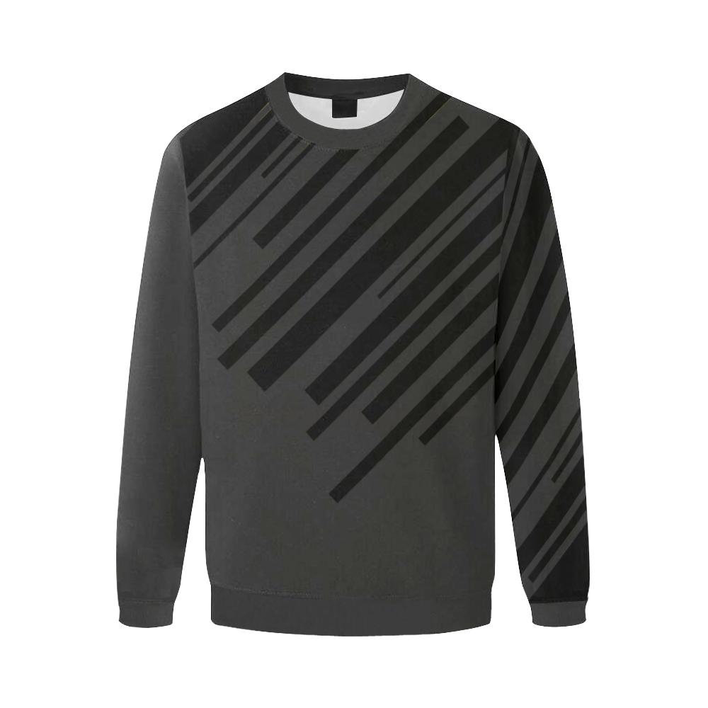 night city trans Men's Oversized Fleece Crew Sweatshirt (Model H18)