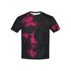 SKULL PINK BLACK 4 KIDS Kids' All Over Print T-shirt (USA Size) (Model T40)