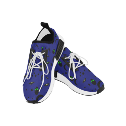 Alien Flying Saucers Stars Pattern (Blue/White) Women's Draco Running Shoes (Model 025)
