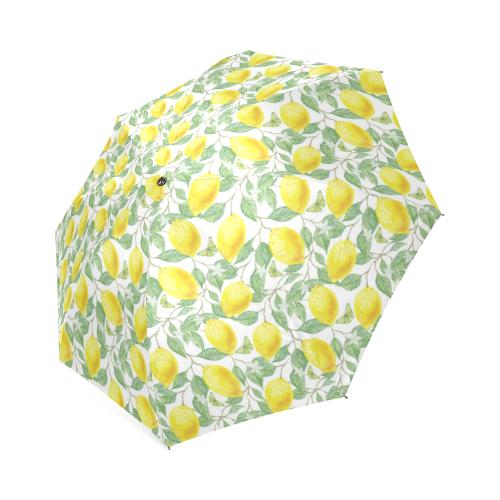 Lemons And Butterfly Foldable Umbrella (Model U01)