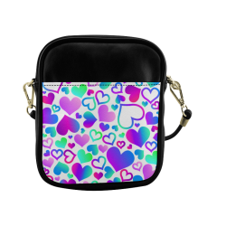 Corazones Multicolores Sling Bag (Model 1627)