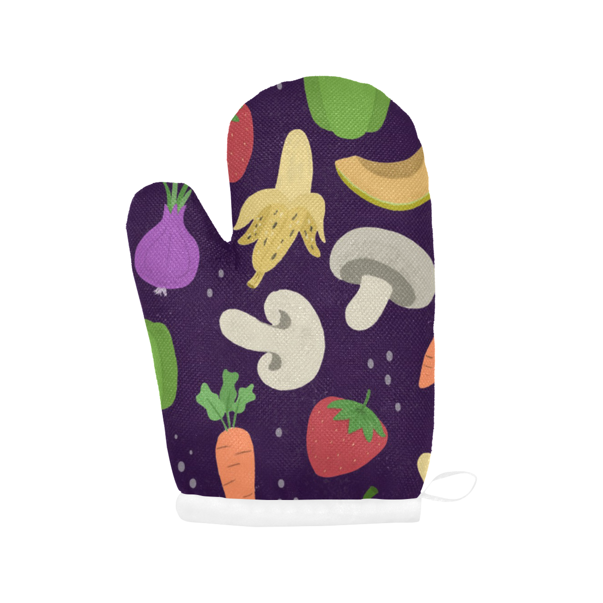 Fruits and Veggies Oven Mitt (Two Pieces)