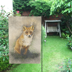 fox-3028847 Garden Flag 12''x18''(Without Flagpole)