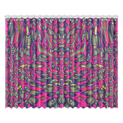 """70s chic 1 Window Curtain 52""""x84""""(Two Pieces)"""