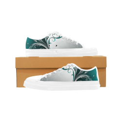 Abstract leaves Women's Canvas Zipper Shoes (Model 001)