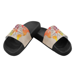world map wind rose #map #worldmap Men's Slide Sandals (Model 057)