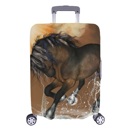 "Wonderful horse with water splash Luggage Cover/Large 26""-28"""