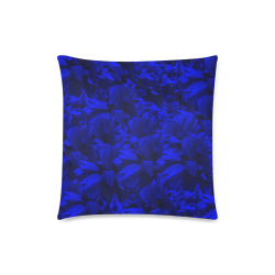 "A202 Rich Blue and Black Abstract Design Custom Zippered Pillow Case 18""x18""(Twin Sides)"